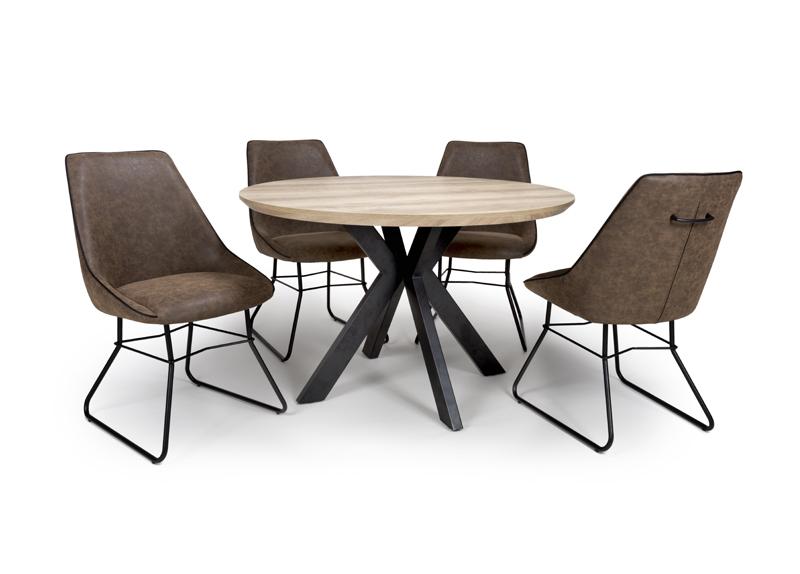 Manhattan Round Dining Table 1200mm Furniture Link